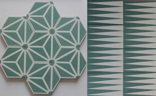 popham design, piastrelle in cemento fatte a mano