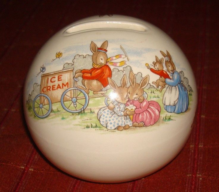 This Royal Doulton tableware limited 1936 trade mark ball bank is in excellent condition. It has the cutest scene of any of the banks. & 224 best Bunnykins images on Pinterest | Royal doulton Children s ...