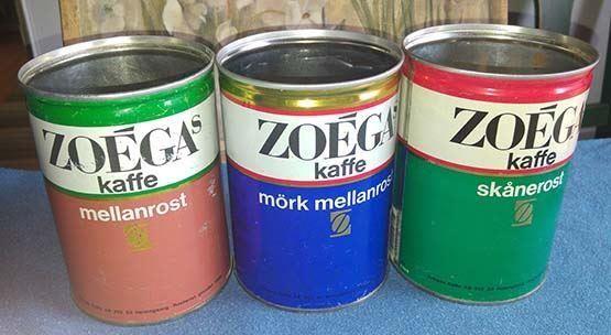 Zoegas kaffeburkar 3 st. på Tradera.com - Ej konfektyr | Plåtemballage |