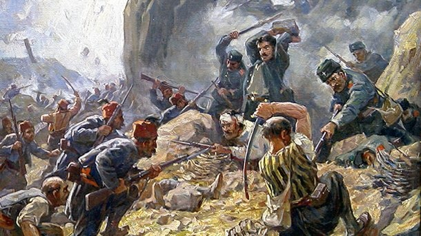 The battles in the Russo-Turkish war for the defense of the Shipka pass were described in hundreds of books, publications and researches and most of them tell on the heroism of its defenders. This Day in History: Apr 24, 1877: Russian Empire declares war on Ottoman Empire. http://dingeengoete.blogspot.com/