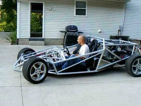 Home Built Ariel Atom Inspired V-8 Project Car - First Test Drive