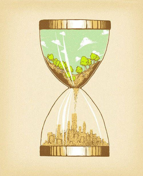 .Time, Real Life, Cartoons Art, Peace Places, Illustration, Mothers Nature, Earth, Design, Hourglass