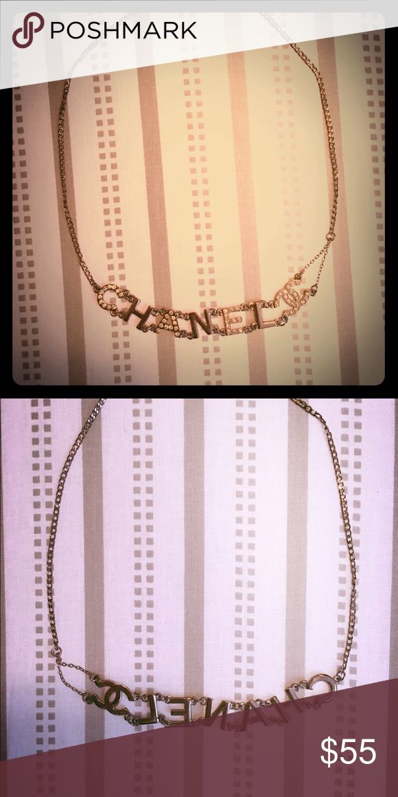 Choker necklace Choker necklace. Titanium plated.. Like Chanel. Price reflects authenticity! CHANEL Jewelry Necklaces