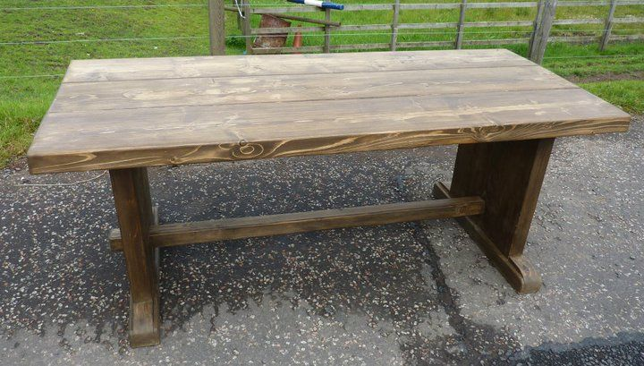 medieval table of reclaimed wood.