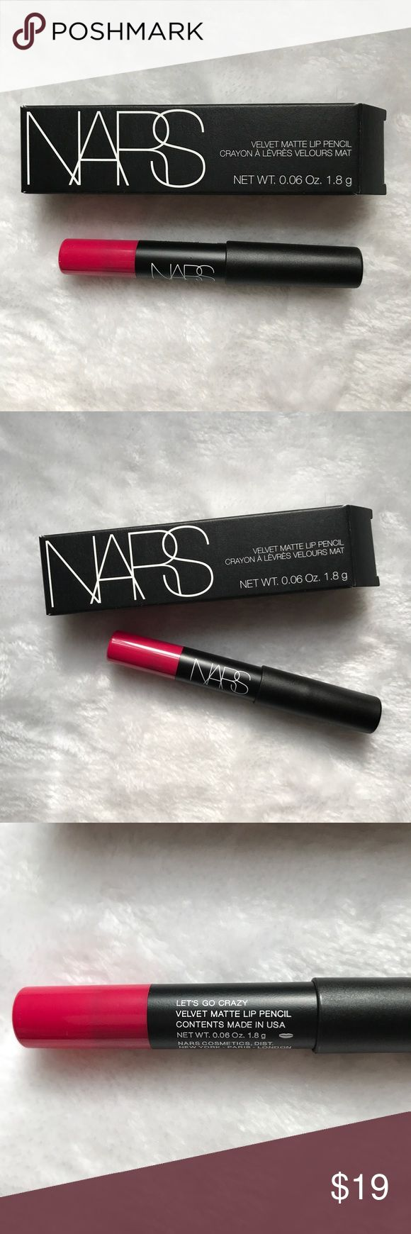 NARS Velvet Matte Lip Pencil 5855 Lets Go Crazy NARS Velvet Matte Lip Pencil in Let's Go Crazy 5855 New in Box Travel Size. 0.06oz. / 1.8g. Pink color family. Please let me know if you have any questions. 30% additional discounts when bundling. Reasonable offers may be considered. No trades. NARS Makeup Lipstick