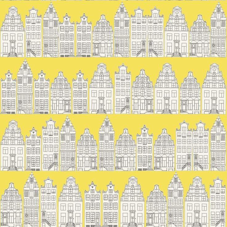 Tapete denim house col 04 moderne tapeten in den farben for Tapete gelb