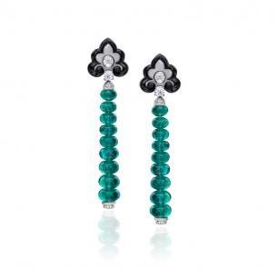 Emerald earrings by Anna Hu