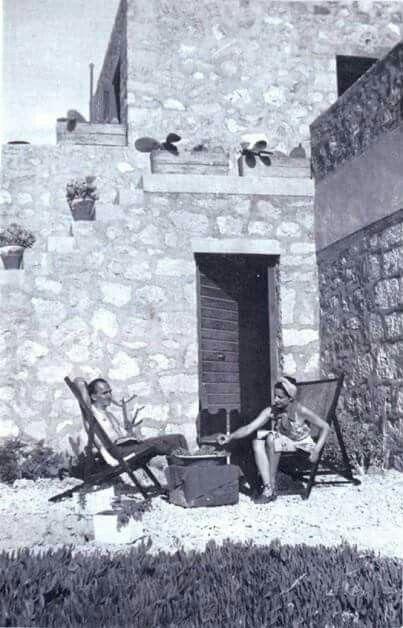 1931 - Nikos Kazantzakis in Aegina island