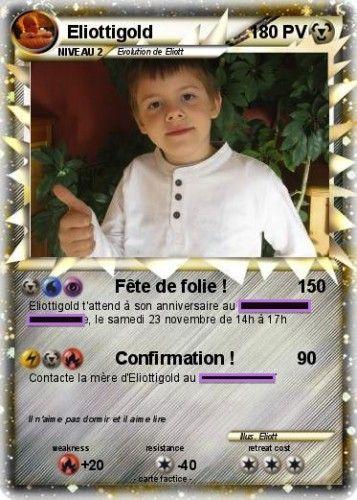 DIY Pokemon card