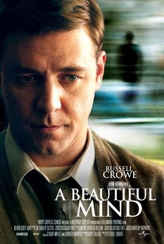 """""""A Beautiful Mind"""" The well-acted A Beautiful Mind is both a moving love story and a revealing look at mental illness."""