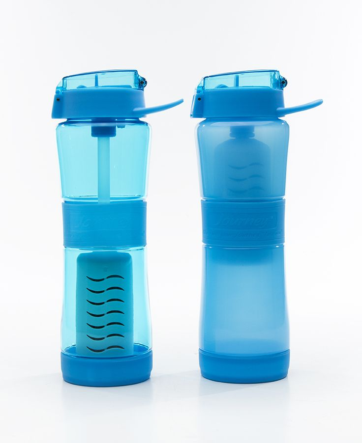 "Filtered water bottles by Sagan - remove bacteria, virus and giardia. Test results on our site to back up our claims. http://www.saganfilters.com/best-water-filter-lab-testing/ Makes ANY water - Safe water. Coming late summer 2015, so Pin now to remember! ""Journey"" & ""Streamer"" Filtered Water Bottles. Impressive."