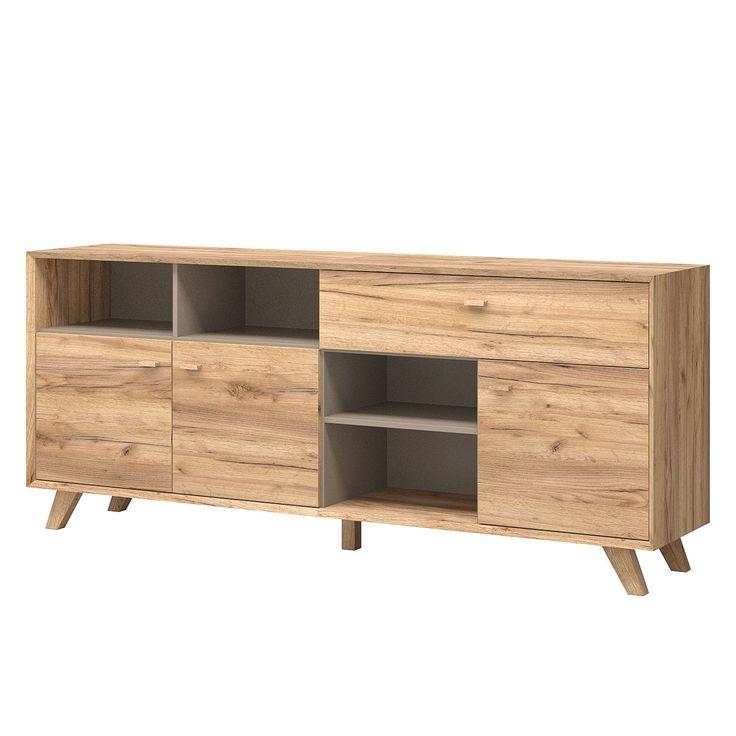 Sideboard Calvi I - Eiche Navarra Dekor / Steingrau - Schräger Fuß, Norrwood Jetzt bestellen unter: https://moebel.ladendirekt.de/wohnzimmer/schraenke/sideboards/?uid=0f25559c-ac9d-54db-ac73-449b1a111ddb&utm_source=pinterest&utm_medium=pin&utm_campaign=boards #möbel #schraenke #norrwood #kommoden #wohnzimmer #sideboards
