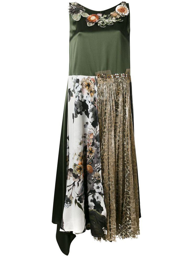 Antonio Marras платье шифт с вышивкой