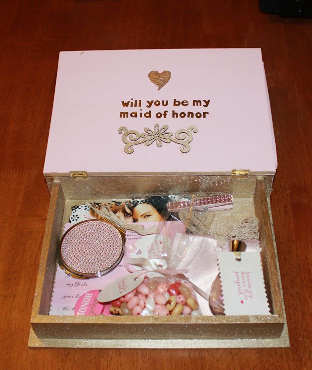 Funny Ways To Ask Bridesmaids To Be In Your Wedding: Will You Be My Bridesmaid Box