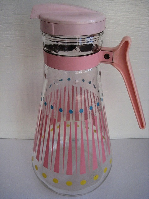 sweet mid century caraffe ~ Not Pyrex, but you know I love old glass!