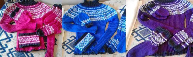 Marius gensere med pannebånd, votter, sokker og strømper