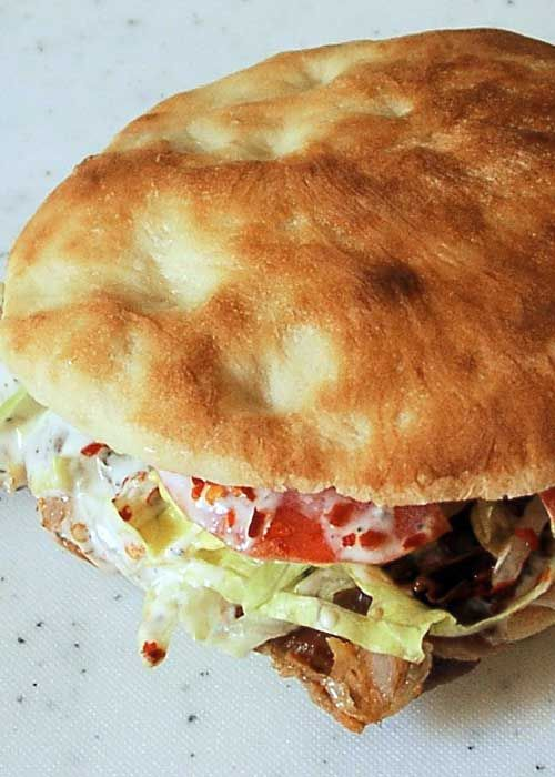 Recipe for Doner Kebab - This Middle-Eastern sandwich is gaining in popularity around the world. The place we get them from makes them the size of your head!