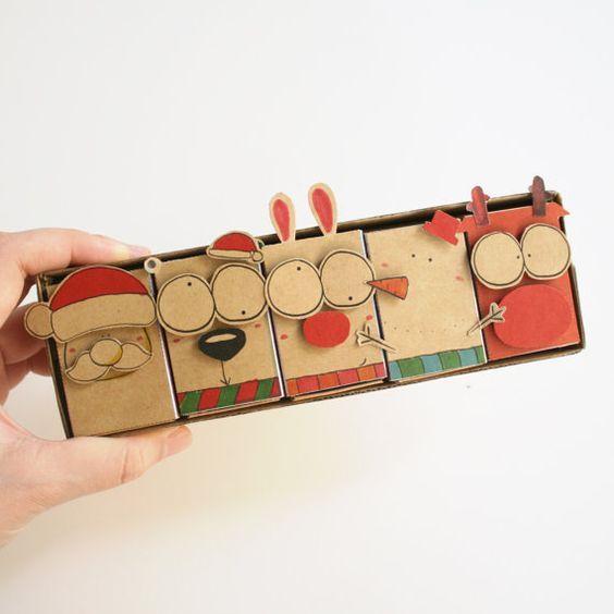 Historias navideñas en una caja de cerillos DIY