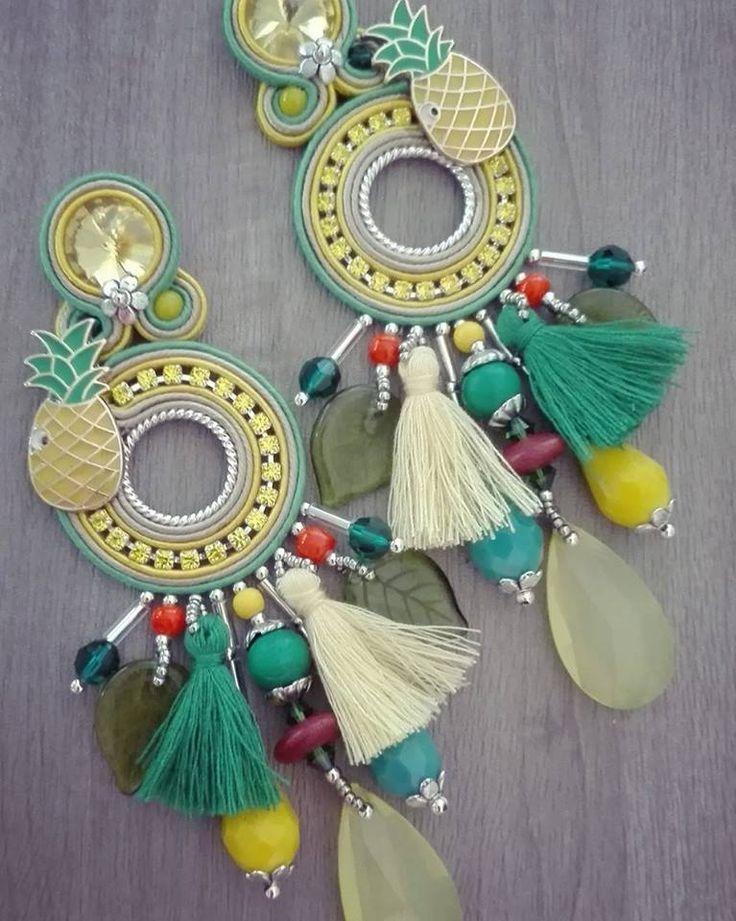"""Adel's Laboratory: """"fiesta """" earrings"""
