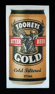 Big Tooheys Gold Sticker, Perfect for your bar of fridge! Get it from mAntique Australia.
