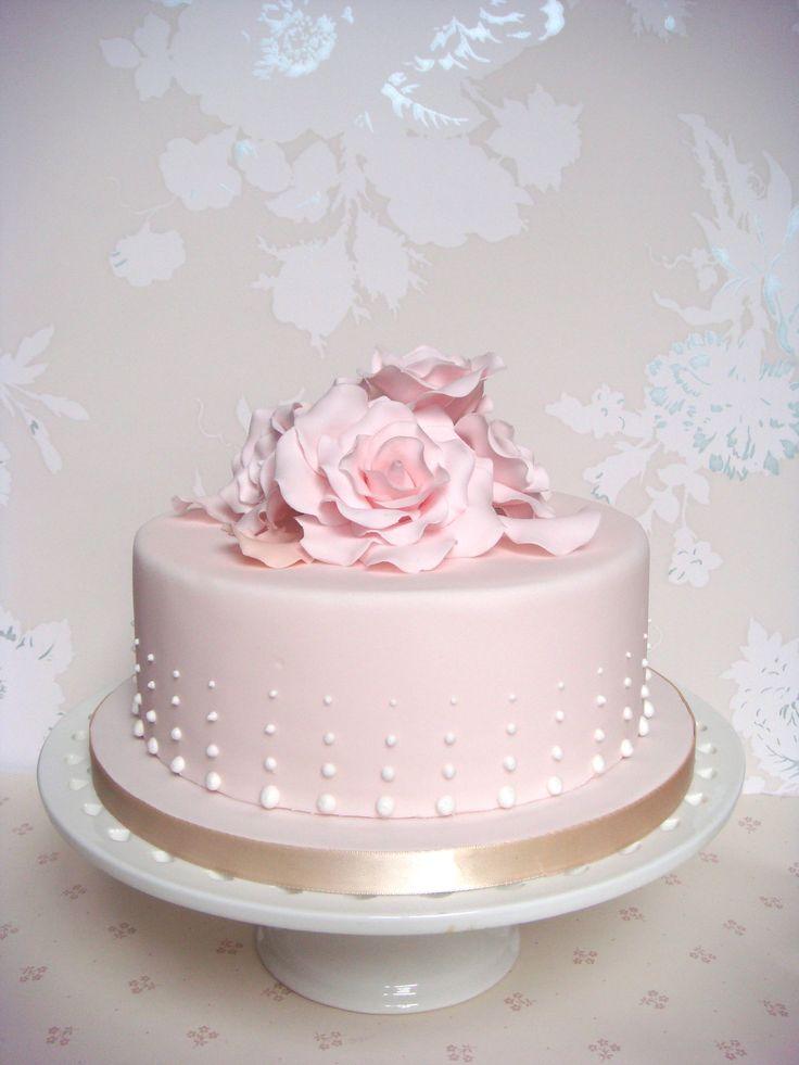 Pink Rose Petal Cake ❦