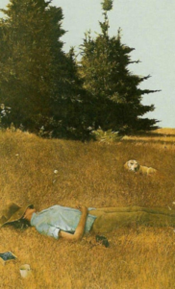 Distant Thunder 1980 HS by Andrew Wyeth - Collotype