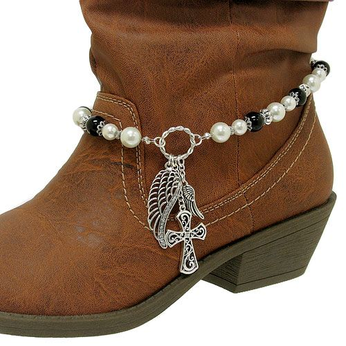 boot jewelry   ... AB CRYSTAL RHINESTONE WESTERN COWBOY COWGIRL BOOT STRAP ANKLET JEWELRY