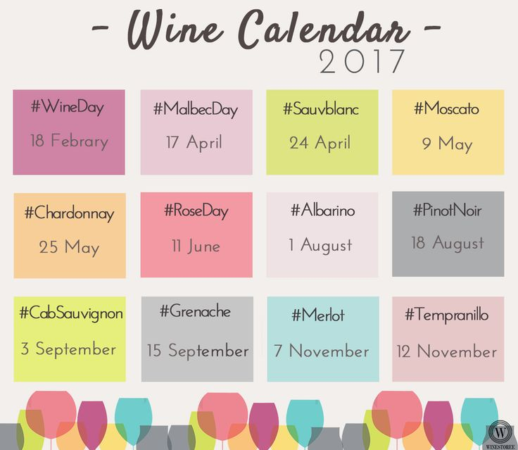 On your marks, ready, go! Keep in mind our 2017 Wine Calendar! Don't miss a day! #Wine #Calendar #Winestoree #winelovers #womeninwine #wine