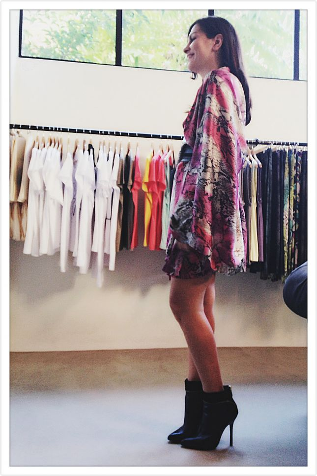 whiteDlight silk snakeskin kimono by @Eleni Stasinopoulou and Oh so Chic available at frocknroll.com