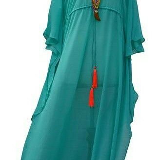 Long Kaftan. Beach wear with embroidery. Awesome. Blessings creation.