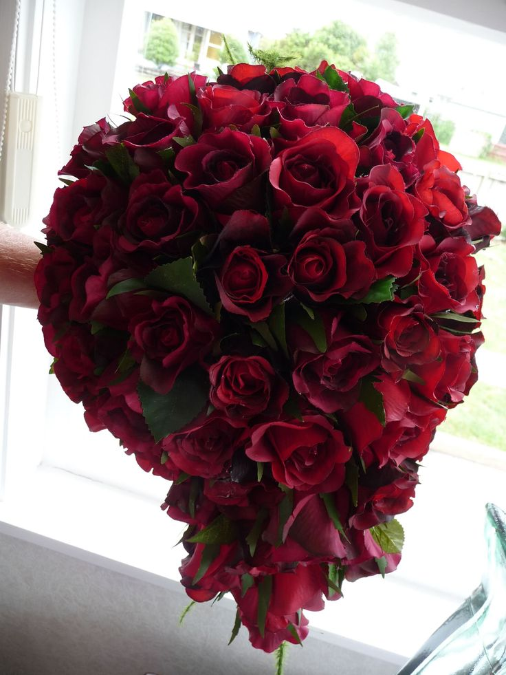 96 best Red Rose Bridal Bouquets images on Pinterest  Bridal bouquets Wedding bouquets and Red