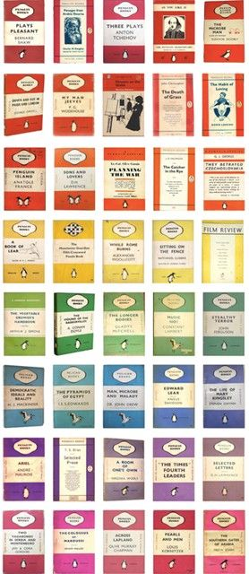 A #rainbow of Penguin #book covers