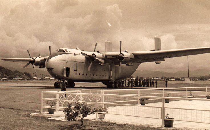 Photo: Tony's Malaya 1959-62 The 'U' Beverley at Jesselton Airport - the lads are loading