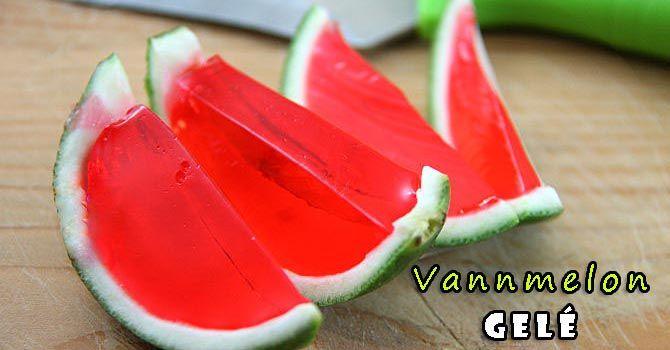 Vannmelon-gelé - http://sunndessert.no/recipe/vannmelon-gele-oppskrift/ -  - #Dessert