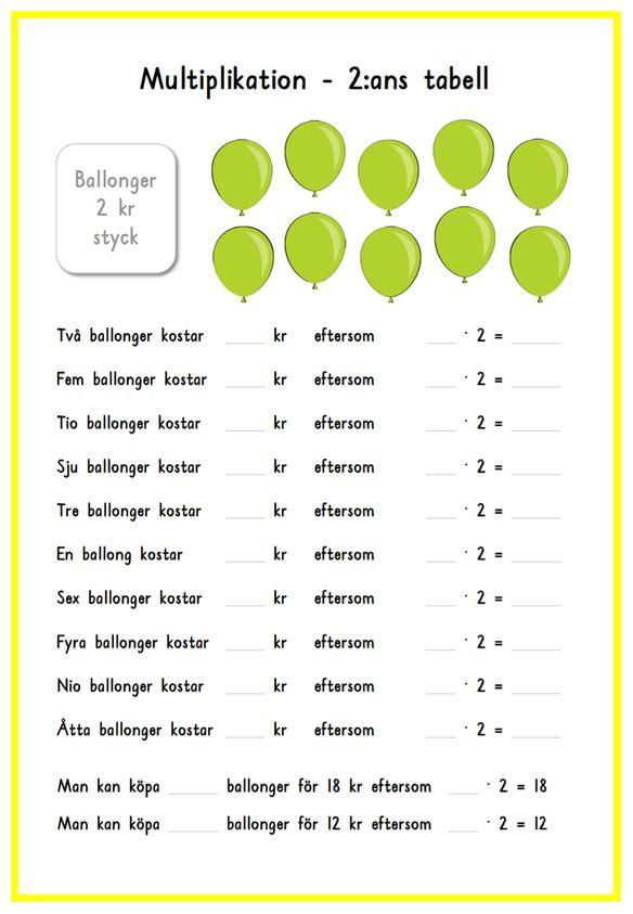 Multiplikation med ballonger