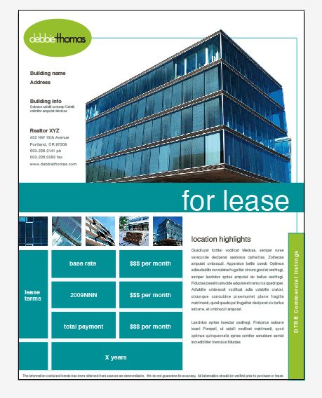 Commercial Lease Proposal Template Real Estate Flyers Dont Have To