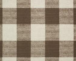 Large Scale Brown Buffalo Check Fabric Fabrics