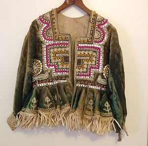 vintage velvet embroidered jacket - 1967-76, seller picked it up at swap meet, doesn't know origins