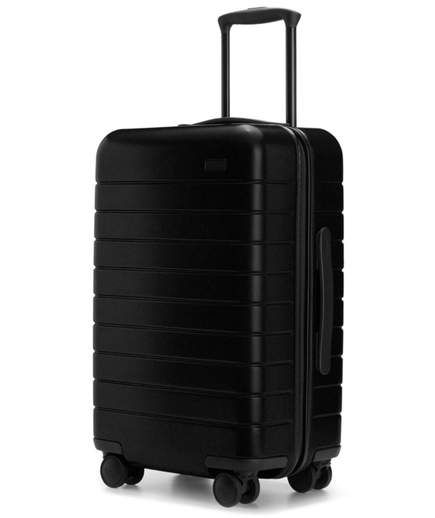 Away The Carry-On | The AWAY carry-on suitcase is my absolute favorite! While the charger is a nice bonus, I love that the wheels are sturdy, the materials are superb, and the extra features like in-suitcase compression and laundry bags are ones I use every single trip. It's a luxury suitcase in every quality, and I love that it's priced well. —Hitha Palepu, founder of Hitha on the Go