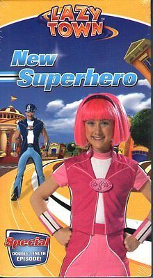Lazy Town - New Superhero (VHS, 2005) RARE HTF NEW CC