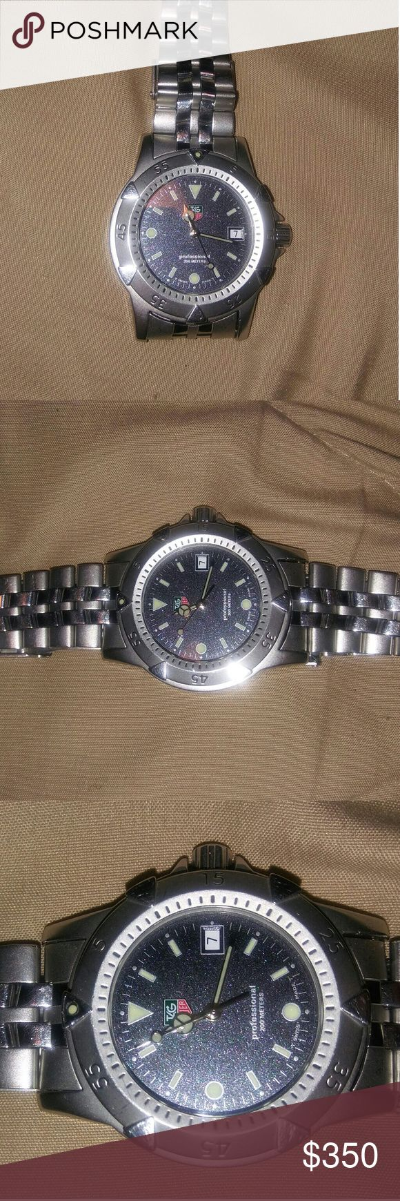 Tag Heuer Professional 200 Meter Watch. Mint Tag Heuer Professional 200 Meter Watch. Mint Condition. All Original. Black Granite Face. New Battery And Crystal. This is listed on Ebay for $450.00 plus all day long so this is an amazing deal.  Serious Buyers Only Please!  More Pictures + Video Upon Request Will Ship Same Day Unless Post Office Is Closed For A Holiday! Tag Heuer Accessories Jewelry