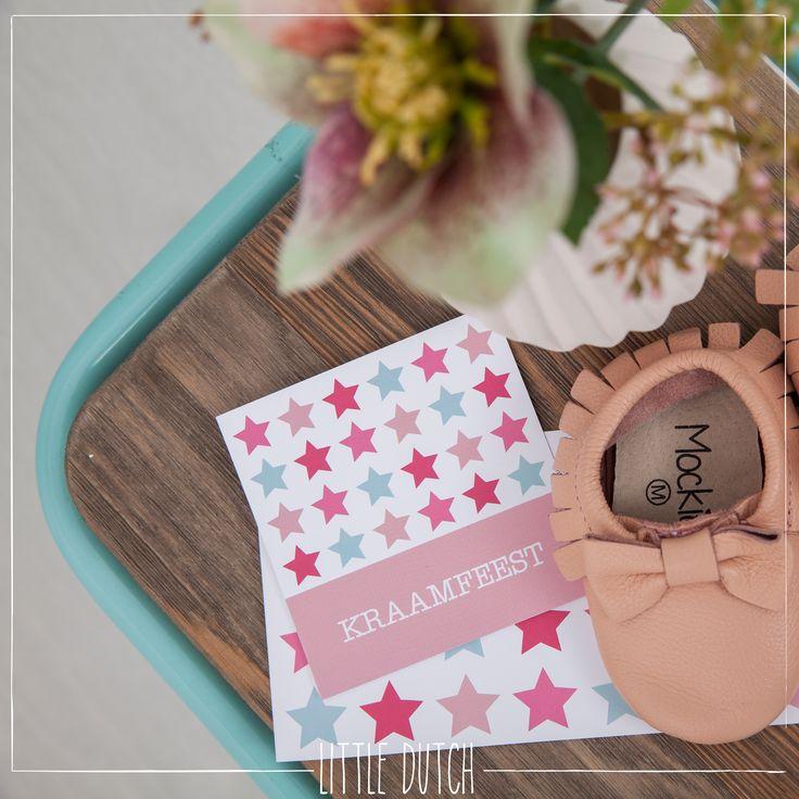Little Dutch Mixed stars pink  #littledutch #little #dutch  #geboortekaartje #liefleuk&eigen #birthannouncement #kraamfeest #uitnodiging #card @LiefLeukenEigen