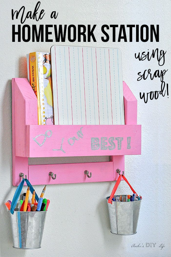 Diy Desk Organizer How To Make A Homework Station Desk Organization Diy Kids Desk Organization Diy Kids Desk