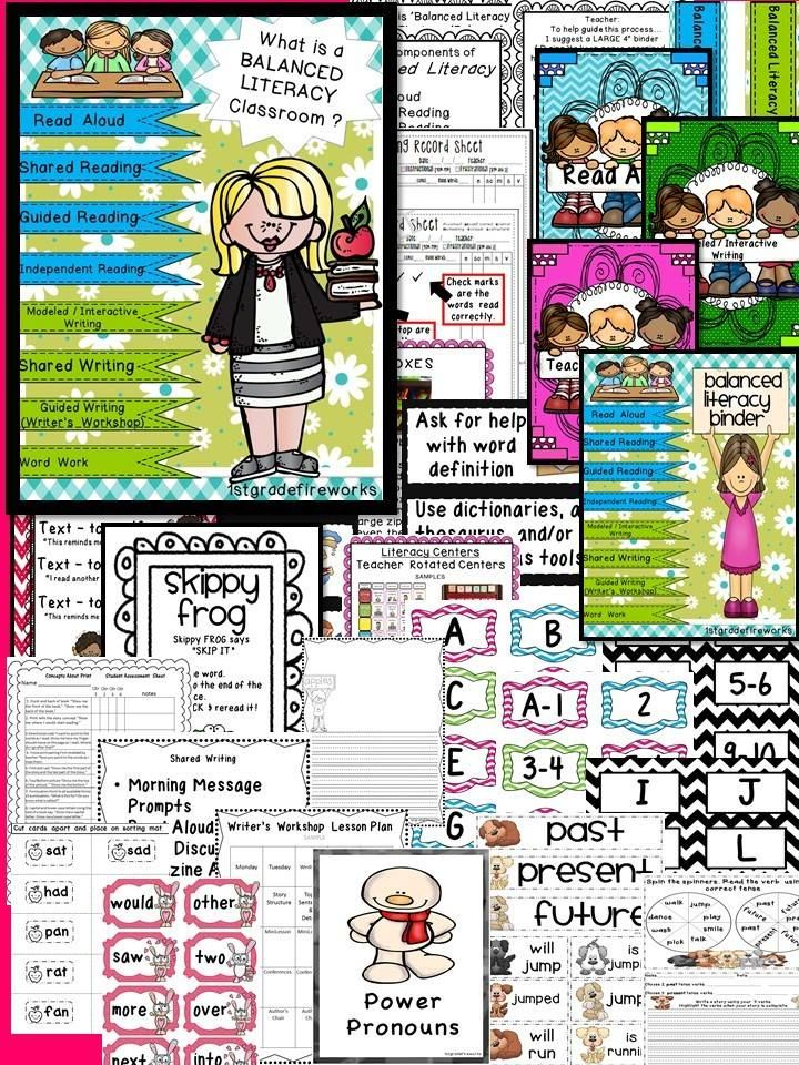 "This is a HUGE Resource BINDER! (Binder NOT included) 154 pages are in a zip file. File will need to be ""unzipped"". All of the pieces needed to create a BALANCED LITERACY classroom are included. Descriptors, samples, pictures, and resources are included.Printables in color & B/W.https://www.teacherspayteachers.com/Product/What-is-a-BALANCED-LITERACY-classroom-1776415"
