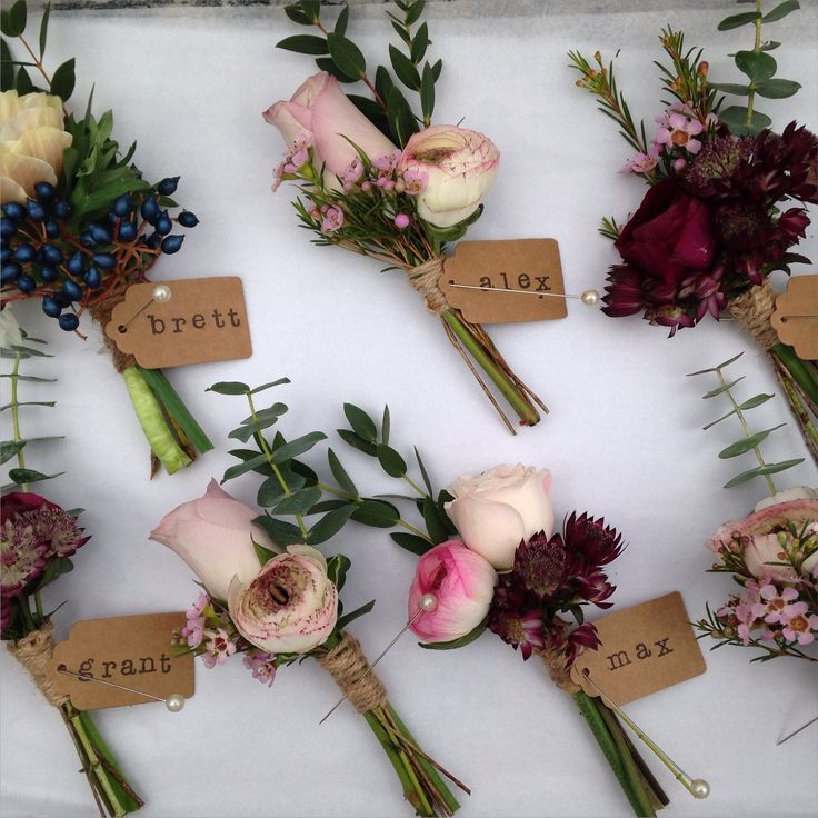Buttonholes delivered to Bartholomew Barns www.rose-cottage-flowers.co.uk