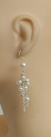 Baroque Pearl Dangle Earrings Eleven Pearls Each Earring | eBay