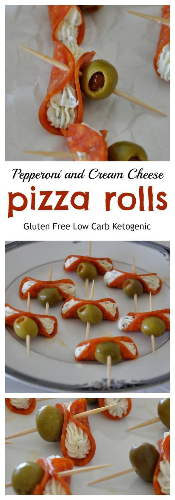 Pepperoni and Cream Cheese Pizza Rolls - Gluten Free, Low Carb from knowgluten.me   Sponsored by HORMEL® Pepperoni. #PEPItUP #ad
