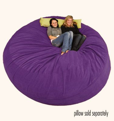 ComfySacks -  8 ft Sack Micro Suede Giant Purple Beanbag! It weighs 140 lbs and costs $580! -- http://www.comfysacks.com