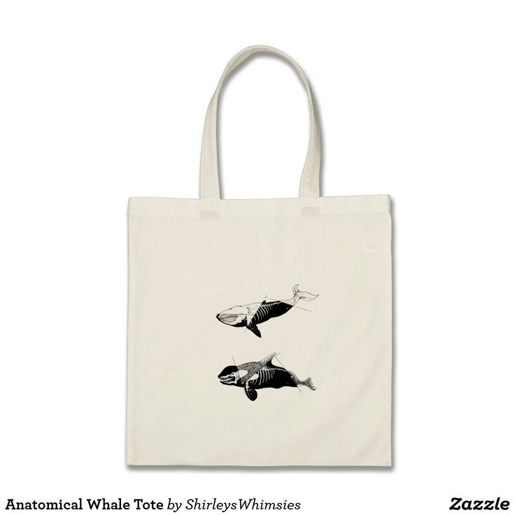 Anatomical Whale Tote