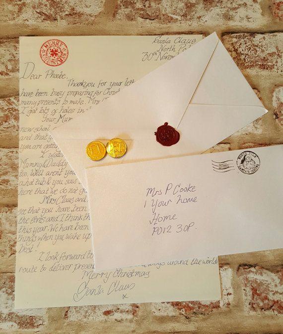 The 25 best Personalised santa letter ideas on Pinterest  Letter